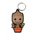 Les Gardiens de la Galaxie - Porte-clés caoutchouc Baby Groot 6 cm