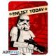 Star Wars - Plaque métal Enlist today (28x38)
