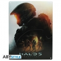 Halo - Plaque métal Keyart (28x38)
