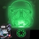 Star Wars Rogue One - Porte clef lumineux Trooper vert