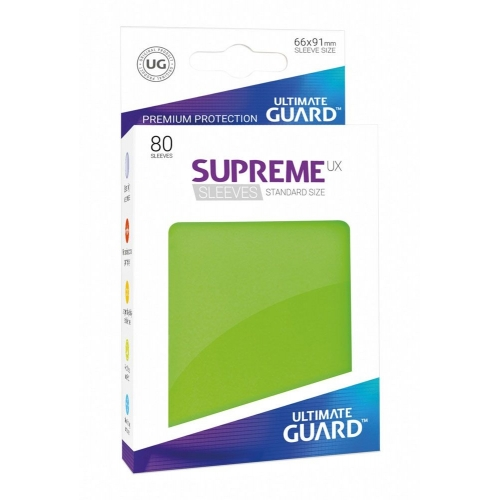 Ultimate Guard - 80 pochettes Supreme UX Sleeves taille standard Vert Clair