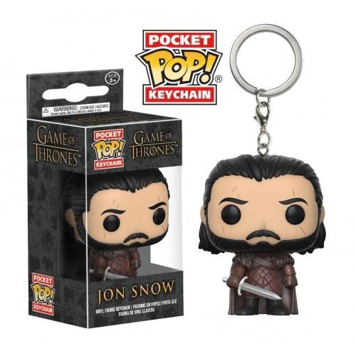 Game of Thrones - Figurine POP! Vinyl porte-clés Jon Snow 4 cm