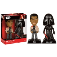 Star Wars Episode VII - Pack 2 Wacky Wobblers Bobble Heads Finn & Kylo Ren 15 cm