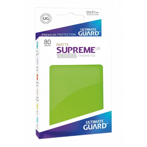Ultimate Guard - 80 pochettes Supreme UX Sleeves taille standard Vert Clair Mat