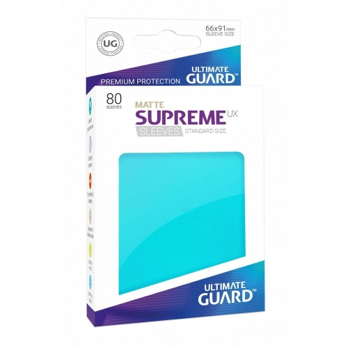 Ultimate Guard - 80 pochettes Supreme UX Sleeves taille standard Aigue-marine Mat