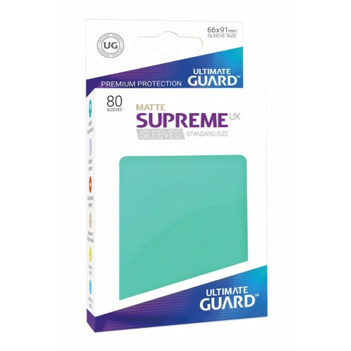 Ultimate Guard - 80 pochettes Supreme UX Sleeves taille standard Turquoise Mat