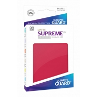 Ultimate Guard - 80 pochettes Supreme UX Sleeves taille standard Rouge Mat