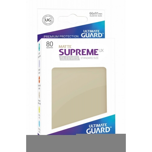 Ultimate Guard - 80 pochettes Supreme UX Sleeves taille standard Sable Mat