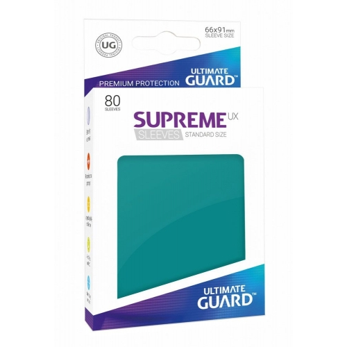 Ultimate Guard - 80 pochettes Supreme UX Sleeves taille standard Bleu Pétrole