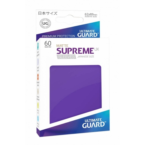 Ultimate Guard - 60 pochettes Supreme UX Sleeves format japonais Violet Mat
