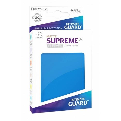 Ultimate Guard - 60 pochettes Supreme UX Sleeves format japonais Bleu Roi Mat