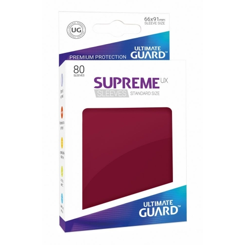 Ultimate Guard - 80 pochettes Supreme UX Sleeves taille standard Bourgogne