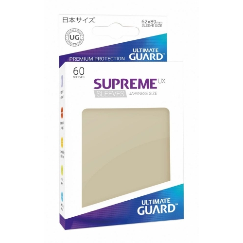 Ultimate Guard - 60 pochettes Supreme UX Sleeves format japonais Sable