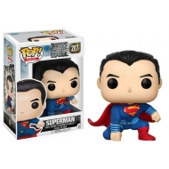 Justice League - Figurine POP! Superman (Landing Pose) 9 cm