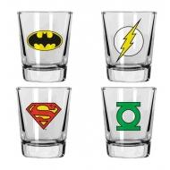 DC Comics - Set 4 verres Heroes
