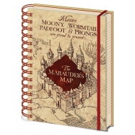 Harry Potter - Cahier à spirale A5 Marauders Map