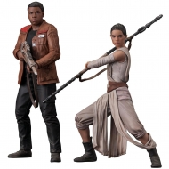 Star Wars Episode VII - One pack 2 statuettes ARTFX+ Rey & Finn 15 - 18 cm