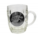 Game Of Thrones - Chope Le Trône de fer avec Logo Metallic Stark