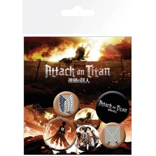 L'Attaque des Titans - Pack 6 badges Characters