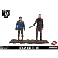 The Walking Dead - Pack 2 figurines Negan & Glenn 13 cm
