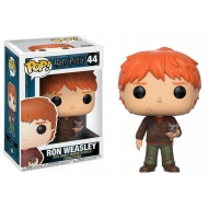Harry Potter - Figurine POP! Ron Weasley avec Scabbers 9 cm