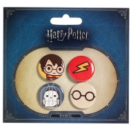 Harry Potter - Pack 4 badges Cutie  & Hedwig