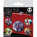 L'étrange Noel de Mr. Jack - Pack 5 badges Characters