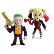 Suicide Squad - Pack 2 Figurines Metals Diecast Joker & Harley Quinn 10 cm