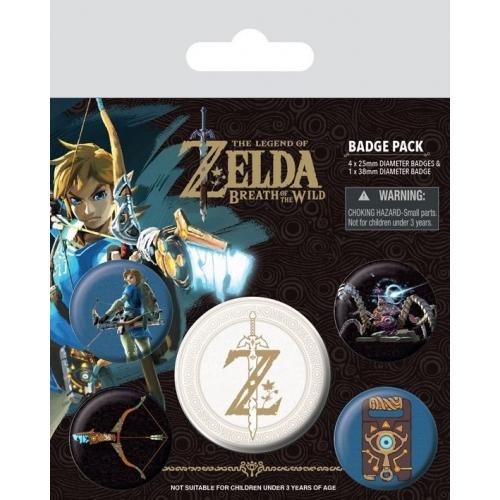 The Legend of Zelda Breath of the Wild - Pack 5 badges Z Emblem