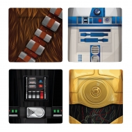 Star Wars - Pack 4 plaques Characters