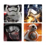 Star Wars Episode VII - Pack 4 plaques Star Wars