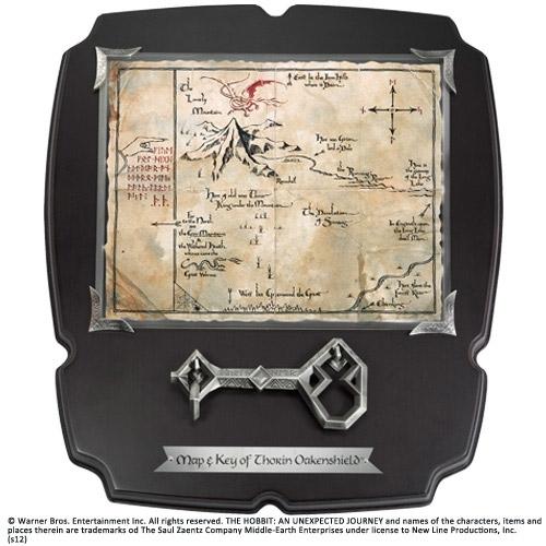 Le Hobbit - Réplique 1/1 clé et carte de Thorin écu-de-chêne Deluxe
