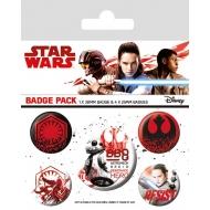 Star Wars Episode VIII - Pack 5 badges Resist