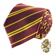 Harry Potter - Set cravate & badge Gryffondor