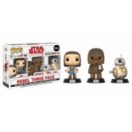 Star Wars Episode VIII - Pack 3 figurines POP! Rebel 9 cm