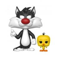 Looney Tunes - Figurine POP! Sylvester & Tweety 9 cm