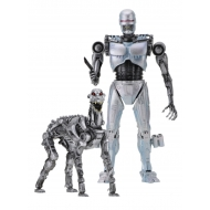 The Terminator vs RoboCop - Pack 2 figurines EndoCop & Dog 18 cm