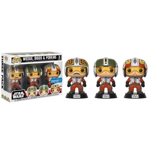 Star Wars - Pack 3 figurines POP! Wedge, Biggs & Porkins 9 cm