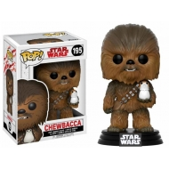 Star Wars Episode VIII - Figurine POP! Bobble Head Chewbacca & Porg 9 cm