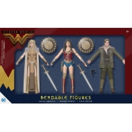 DC Comics - Pack 3 figurines Wonder Woman flexibles 14 cm