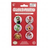 Super Mario - Pack 6 badges Lenticular