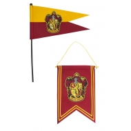 Harry Potter - Set bannière & drapeau Gryffindor