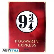 Harry Potter - Plaque métal Voie 9 3/4 (28x38)