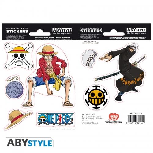 One Piece - Stickers Luffy & Law