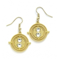 Harry Potter - Boucles d'oreille Time Turner (plaque or)