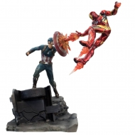 Captain America Civil War - Statuette Premium Motion Captain America vs Iron Man 43 cm