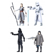 Star Wars Episode VIII - Pack 4 figurines Force Link 2018 Battle on Crait 10 cm