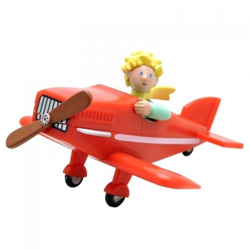 Le Petit Prince - Figurine Le Petit Prince dans son avion 7 cm
