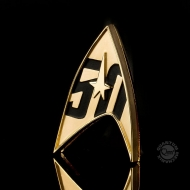 Star Trek - Réplique 1/1 Starfleet badge magnétique 50th Anniversaire