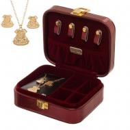 Harry Potter - Boîte à bijoux avec boucles d'oreille & collier Hogwarts
